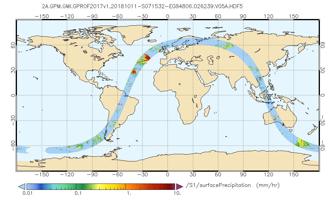 GPM GMI (GPROF) Surface Precipitation Estimate (GPM_2AGPROFGPMGMI)
